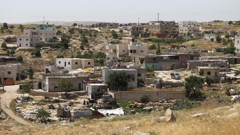 The West Bank village of Ad-Deirat Rifaiyya. (Photo credit: Hazem Bader/AFP)