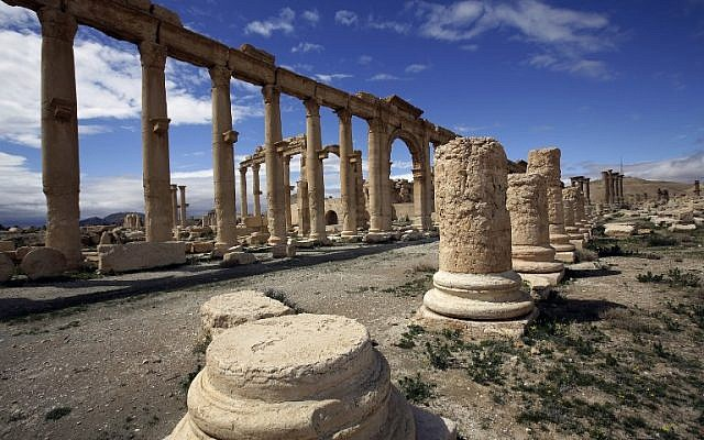 Partial view of the ancient oasis city of Palmyra in Syria, March 14, 2014 (AFP/Joseph Eid, File)
