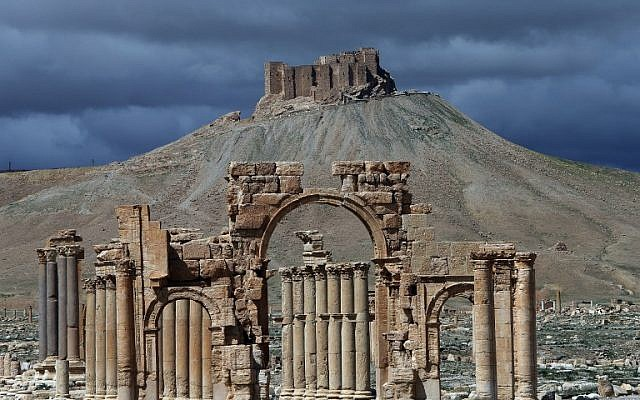 A file picture taken on March 14, 2014 shows a partial view of the ancient oasis city of Palmyra, Syria. (AFP/JOSEPH EID)