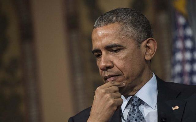 US President Barack Obama at Georgetown University in Washington, DC, May 12, 2015 (AFP/Nicholas Kamm)
