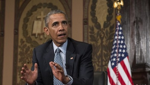 US President Barack Obama in Washington, DC, on May 12, 2015 (Nicholas Kamm/AFP)