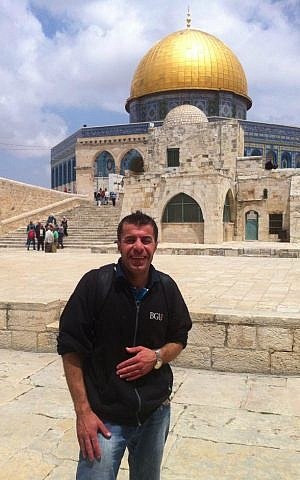 Amer Sweity on a visit to the Temple Mount in Jerusalem. (Courtesy)