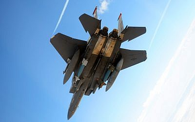 A US F-15E Strike Eagle during a training run in Utah in 2010. (US Air Force)
