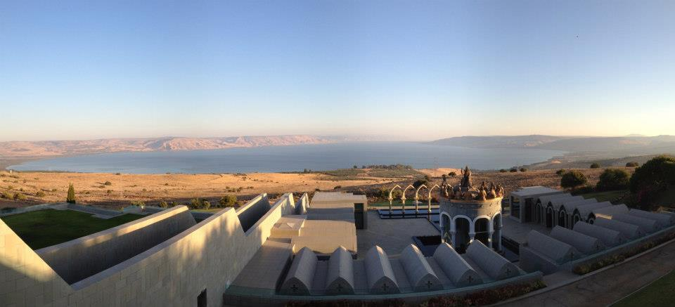 A Sea of Galilee view from the Domus Galilaeae, the setting for an early May interfaith conference with 120 rabbis and dozens of leading Catholic clergy. (courtesy)
