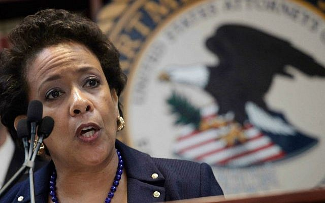US Attorney General Loretta Lynch announces an indictment against nine FIFA officials and five corporate executives for racketeering, conspiracy and corruption at a news conference, Wednesday, May 27, 2015, in the Brooklyn borough of New York. (AP Photo/Mark Lennihan)