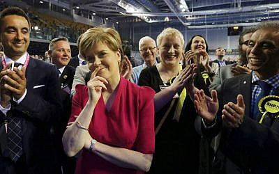 First Minister of Scotland and Scottish National Party leader Nicola Sturgeon. (AP Photo/Scott Heppell)