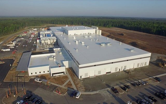 Aerial view of Caesarstone's new US manufacturing facility in n Richmond Hill, Georgia. (Photo credit: Courtesy)