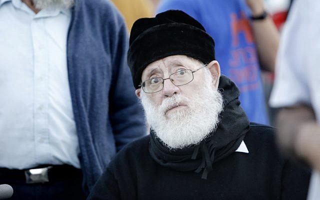 Gush Emunim founder Rabbi Moshe Levinger (Miriam Alster/Flash90)