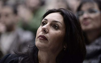 Likud Member of Knesset Miri Regev at a political conference at Tel Aviv University, January 18, 2015 (Tomer Neuberg/Flash90)