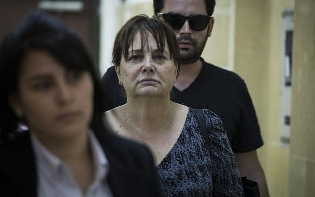 Former Tel Aviv district attorney Ruth David arrives at the Jerusalem Magistrate's court, May 10, 2015. (Hadas Parush/Flash90)