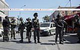 Israeli police near the Arab neighborhood of A-Tur in East Jerusalem, on May 20, 2015. (Yonatan Sindel/Flash90/File)