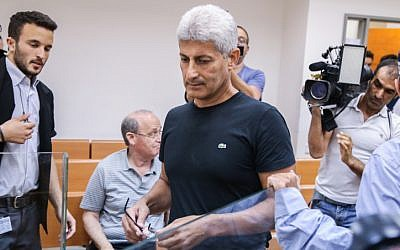 Former Or Yehuda Mayor David Yosef at the Rishon Letzion Magistrate's Court on May 26, 2015. (Flash90)