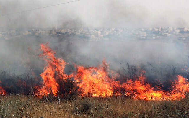Illustrative photo of a fire in southern Israel (Talucho/Flash90)