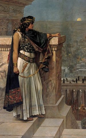 Queen Zenobia's Last Look Upon Palmyra, by Herbert Gustave Schmalz. (Original on exhibit, Art Gallery of South Australia, Adelaide.)
