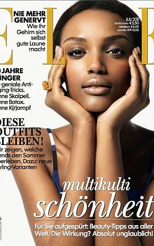 Avtau's Elle Germany 2011 cover, a modeling success that is still hard to come by for models of color (Photo credit: Patric Shaw)