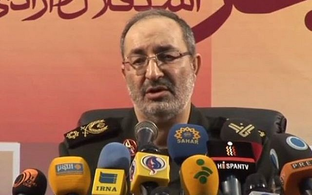 Deputy Chief of Staff of the Iranian Armed Forces Brigadier General Massoud Jazzayeri. (screen capture: YouTube/PressTV Videos)