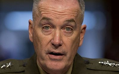 In this March 12, 2014 file photo, Gen. Joseph F. Dunford, Jr. testifies on Capitol Hill in Washington. President Barack Obama will nominate Dunford as next Joint Chiefs of Staff chairman. (Photo credit: AP/Carolyn Kaster, File)