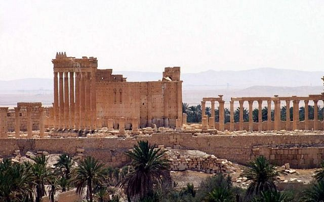 The ancient Roman city of Palmyra, northeast of Damascus, Syria, released by Syria's official news agency SANA, May 17, 2015. (SANA via AP)