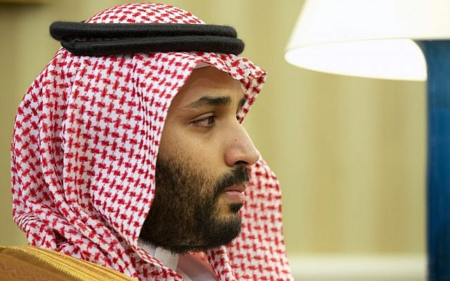 Saudi Arabian Deputy Crown Prince Mohammed bin Salman listens in the Oval Office of the White House in Washington, Wednesday, May 13, 2015, during a meeting between Saudi Arabian Crown Prince Mohammed bin Nayef and President Barack Obama. President Barack Obama welcomed Saudi Arabian leaders to the White House for discussions on his overtures to Iran. (AP/Jacquelyn Martin)