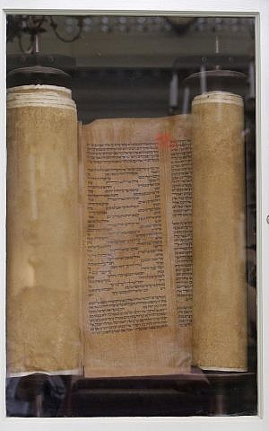 In this Thursday, May 28, 2015 photo, a 500 year-old Torah gifted to the Touro Synagogue, the nation's oldest, is seen in its Ark in Newport, Rhode Island. (AP/Stephan Savoia)