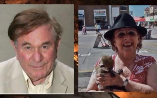 Ronald Senator and his wife Miriam Brickman (photo credit: AOL screenshot)