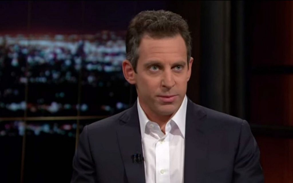 Author Sam Harris gives actor Ben Affleck an eye roll during a debate on 'Real Time with Bill Maher.' (YouTube screenshot)