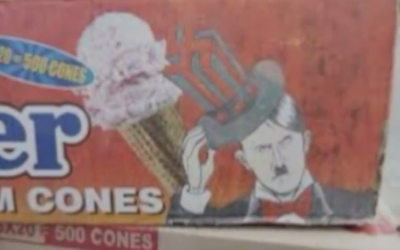 Hitler ice cream on sale in India (YouTube screenshot)