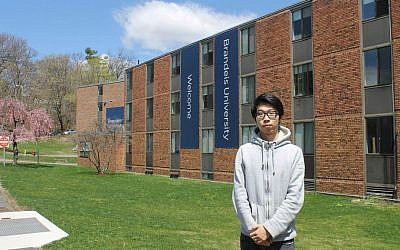 Shanghai native Tianwu Wang is one of hundreds of Chinese students at Brandeis.  (Uriel Heilman/JTA)