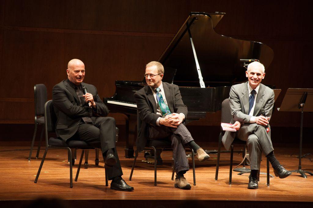 'After Life' composer Tom Cipullo; librettist David Mason and director Erich Parce (Courtesy of Michael Beaton)