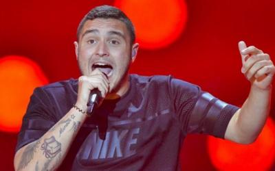 Nadav Guedj, Israel's Eurovision 2015 star, at rehearsals last week (Courtesy Nadav Guedj Instagram)