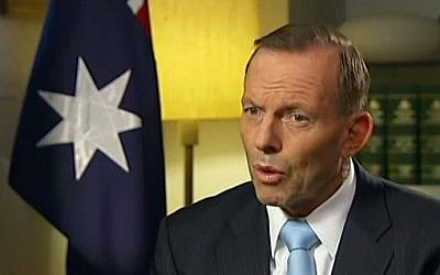 Australian Prime Minister Tony Abbott (YouTube screen capture/ABC News)