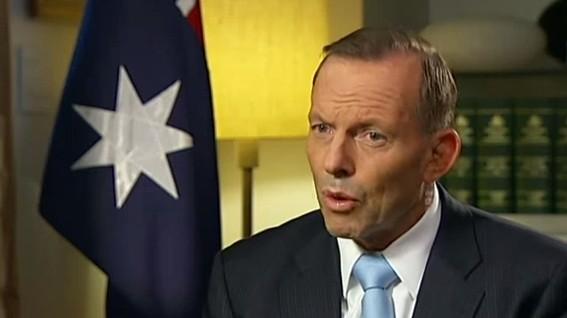 Australian Prime Minister Tony Abbott (YouTube screen capture/ABC News)