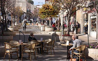 Street life on today's Agrippas Street (Photo credit: Shmuel Bar-Am)