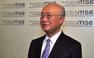 Director-General of the International Atomic Energy Agency Yukiya Amano. (screen capture: YouTube/FRANCE 24 English)