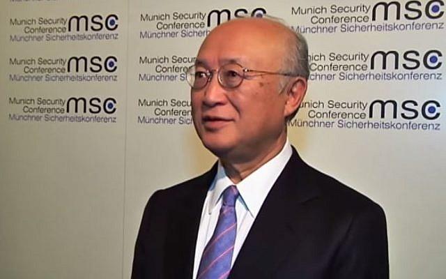 Director-General of the International Atomic Energy Agency Yukiya Amano. (screen capture: YouTube/FRANCE 24 English)