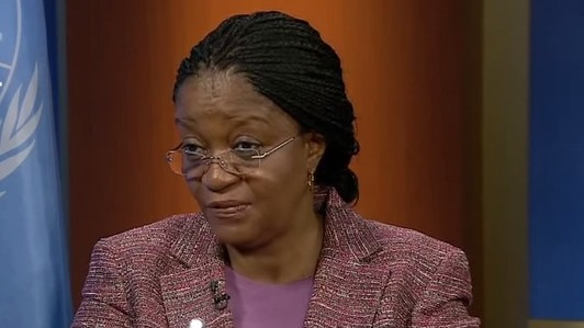 Zainab Bangura, the UN special envoy on Sexual Violence in Conflict (YouTube screen capture)