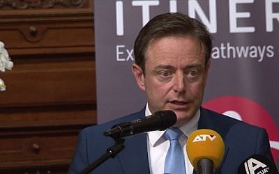New Flemish Alliance (N-VA) leader Bart De Wever. (screen capture: YouTube/ActuaTV)