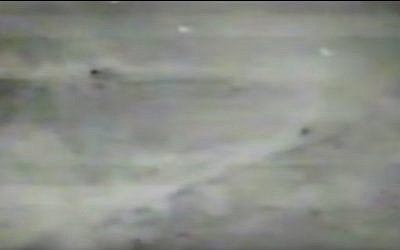 Defense Ministry footage of the demolition of the Beaufort outpost in the southern Lebanon security zone on the night of May 24, 2000. The video, which was released 15 years after the withdrawal, also shows Israeli troops leaving Lebanon under Hezbollah fire. (Screen capture: YouTube)