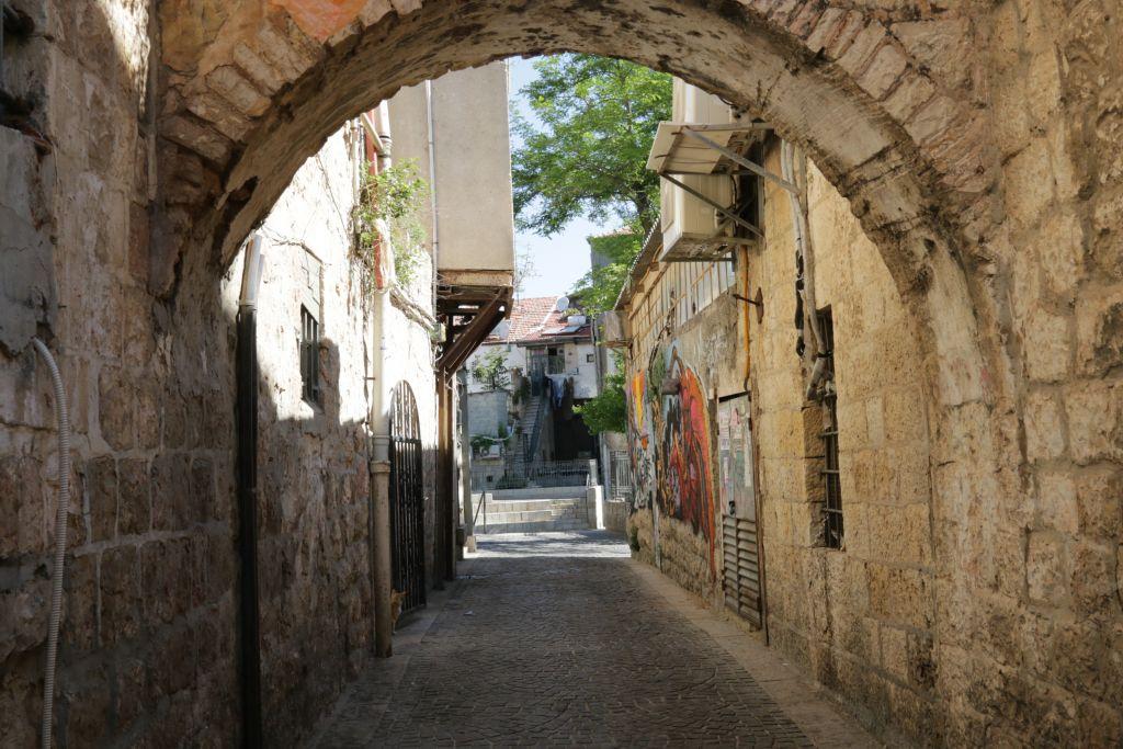 Entrance to Even Yisrael (Photo credit: Shmuel Bar-Am)