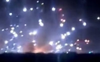 Explosions at a Khartoum munitions plant in October 2012. (Screen capture: YouTube)