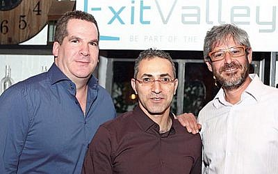 (L. to R. ) ExitValley founders Oded Federbush, Yaniv Shiryon, and Yaron Adler (Photo credit: Courtesy)