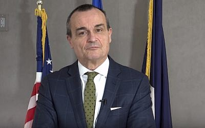 French Ambassador to the US Gerard Araud (screen capture: YouTube)