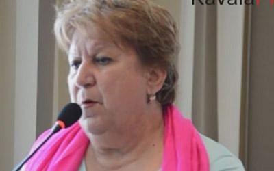 Kavala Mayor Dimitra Tsanaka (Screen capture: Kavala Press via YouTube)