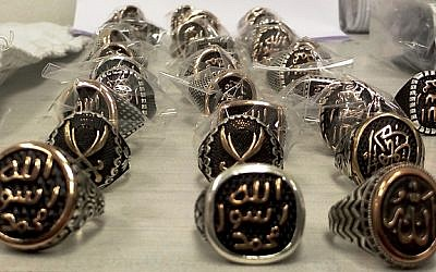 IS rings discovered by customs at Ben Gurion International Airport (Israel Tax Authority)