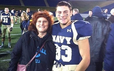 Justin Zemser with his mother, Susan, in a photo posted on her Facebook page in November 2014. (photo credit: Facebook)