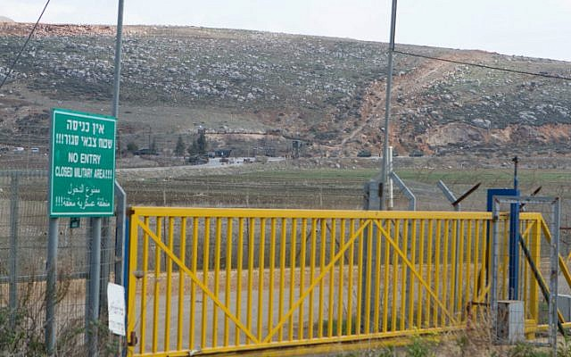 An illustrative photo of the Israeli border fence with Lebanon near Metula (Ayal Margolin/ Flash 90)