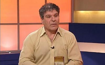 Adnan Tarabash, the manager of Al-Midan Theater in Haifa (YouTube screenshot)