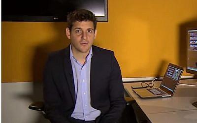 BBC reporter Mark Lobel (YouTube screenshot)