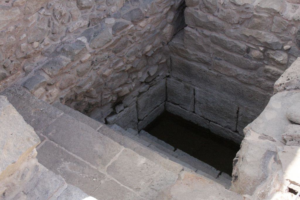 Mikvah entrance at Magdala (Shmuel Bar-Am)