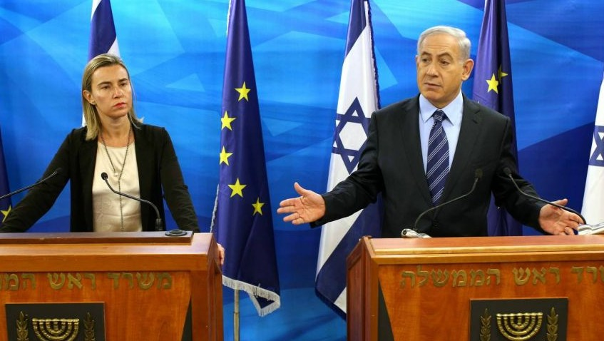 Image result for Netanyahu, Federica Mogherini, photos